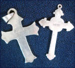 Click to view larger image of Sterling Silver and Abalone Inlay Cross Pendants With Mother of Pearl Heart (Image4)