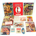Click here to enlarge image and see more about item 9958: Lot 13 Vintage Theme Cookbooks and Recipe Booklets 1915 - 1976