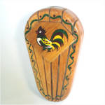 Woodpecker Woodware Rooster Knife Rack Holder