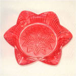 Click here to enlarge image and see more about item 9964: Hazel Atlas Star in Star Ruby Flashed Glass Ashtray