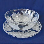 Click to view larger image of Studio Nova Mikasa Winter Rose 12 Inch Bowl and Platter Tray (Image1)