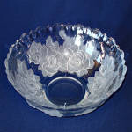 Click to view larger image of Studio Nova Mikasa Winter Rose 12 Inch Bowl and Platter Tray (Image3)