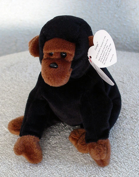 58600e7497b Collector Online   Donna s Korner Kollectibles   Our Bean Bag and Plush  Showcases   Ty Beanie Babies   Ty Congo the Gorilla Beanie Baby 1996-98