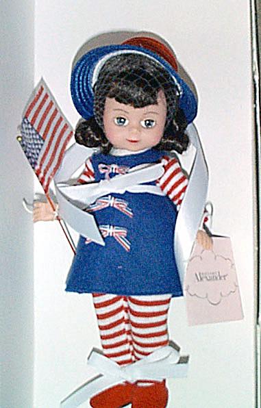 Madame Alexander 2001 Flag Wavin' Maggie Doll (Image1)