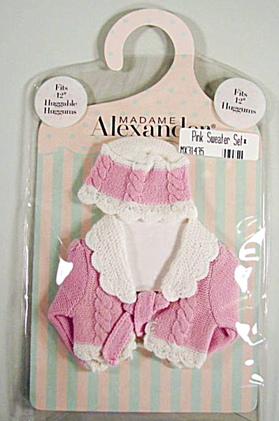 Madame Alexander 12 Inch Huggums Doll Pink Sweater Set 2002
