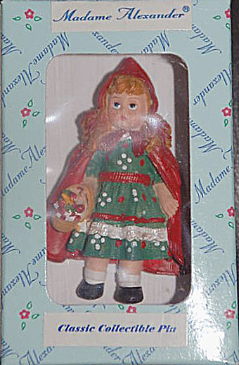 M. Alexander Little Red Riding Hood Resin Doll Pin, 1999 (Image1)