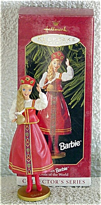 1999 Hallmark Russian Barbie Doll Ornament (Image1)