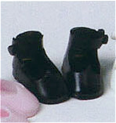 Black Tiny Betsy Mccall Doll Shoes