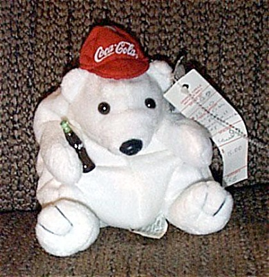 Coca Cola Polar Bear Red Baseball Hat Bean Bag 1997 (Image1)