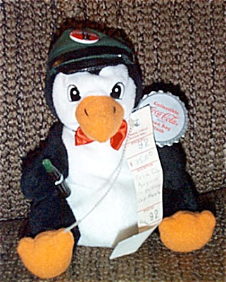 Coca Cola Delivery Penguin Advertising Bean Bag 1997 (Image1)