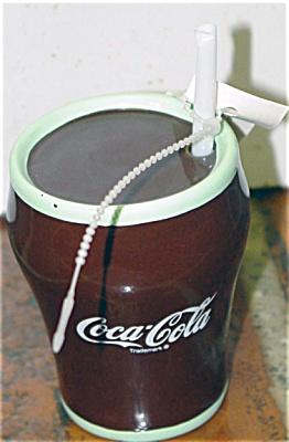Enesco Coca Cola Glass Ceramic Figurine 1993-1994 (Image1)