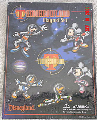Disney Fabulous 5 Space Mickey And Friends Magnets Set 1998