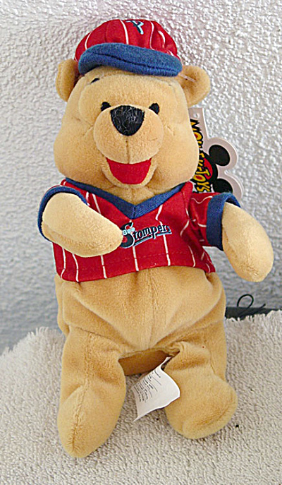 Baseball Pooh Disney Bean Bag Plush c. 1999 (Image1)