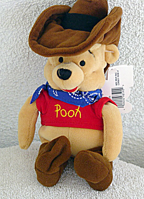 Disney Mousketoys Cowboy Pooh Mini-Bean Bag 1998-99 (Image1)
