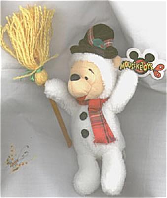 Disney Snowman Pooh Bean Bag, 1998 (Image1)