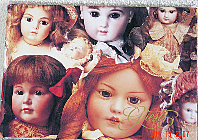 Beautiful Doll Guest Book Antique Pictures on Cover (Image1)