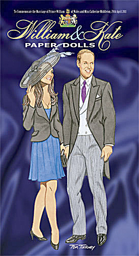 William and Kate Paper Dolls, Tierney 2011 (Image1)