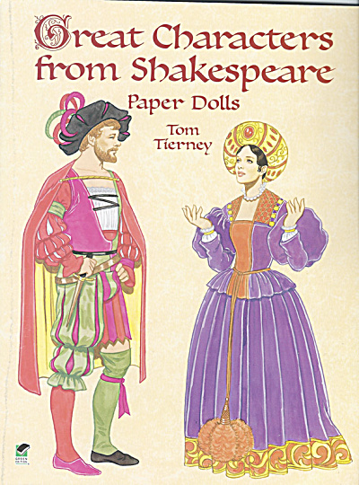 Characters from Shakespeare Paper Dolls, Tierney, Dover, 2000 (Image1)