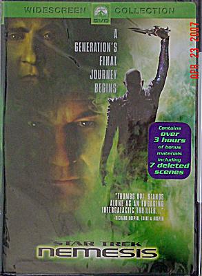 Star Trek Nemesis DVD Widescreen Movie (Image1)