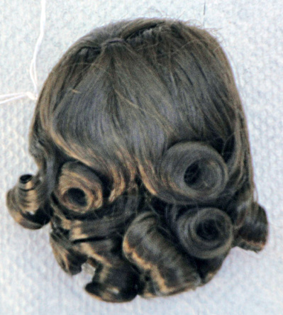 Dark Brown Lindy Wig For 3.5-5 In. Doll Heads, 7-10 In. Dolls
