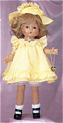 Effanbee 1996 Patsy Joan with Wig in Yellow Dress (Image1)
