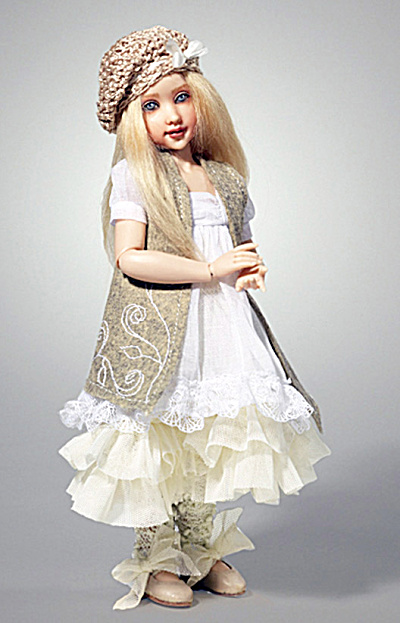 Kish 2014 11 in. Shabby Chic Zoe Resin BJ Doll (Image1)