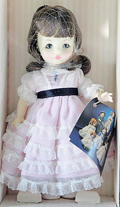 Ideal Brunette 8 In. Victorian Ladies Doll in Pink, 1983 (Image1)