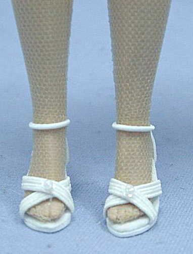 White High Heels for 10 In. Tonner Tiny Kitty Collier Dolls (Image1)