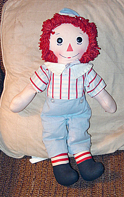 Preloved Knickerbocker 1976 Raggedy Andy Doll 16 Inches (Image1)