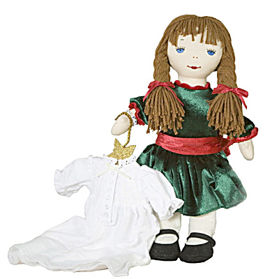 Lennon Sisters Christmas Kathy Rag Doll with Nightgown (Image1)