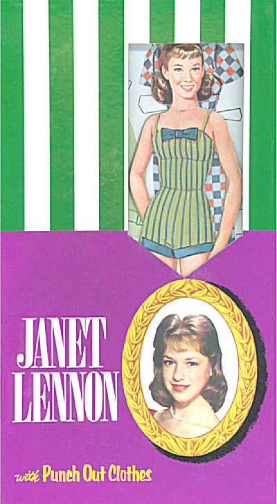 Janet Lennon Punch Out Paper Doll Set (Image1)