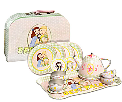 Lennon Sisters Best Pals Tin Tea Set In Travel Case 2008