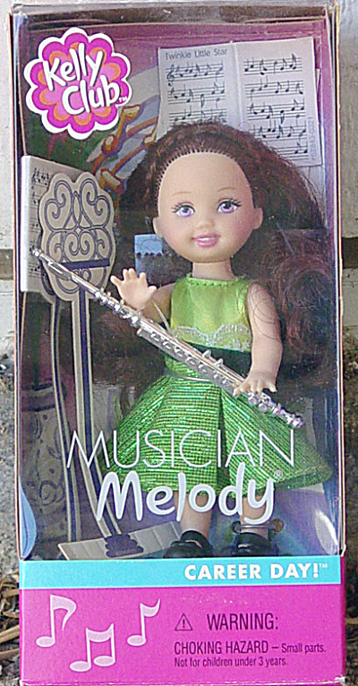 Mattel 2001 Kelly Club Musician Melody Doll With Flute