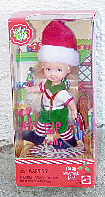 Mattel 2001 Kelly Club Elf Kelly Doll Ornament (Image1)