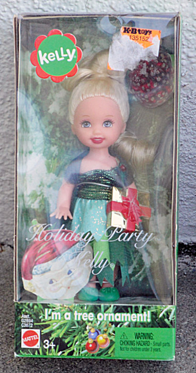 Mattel 2004 Kelly Holiday Party Doll Ornament (Image1)
