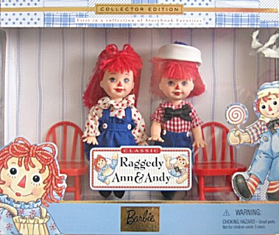 Mattel Kelly and Tommy Dolls as Raggedy Ann and Andy 1999 (Image1)