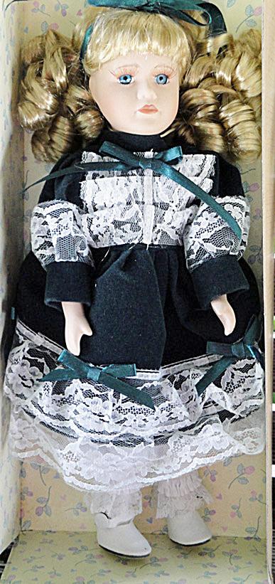 My Treasure Blonde Porcelain Doll, 12 In. Kingsbridge Intl. (Image1)