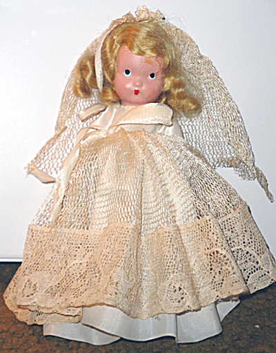 1940s Bisque Nancy Ann Storybook Bride Doll No Box (Image1)