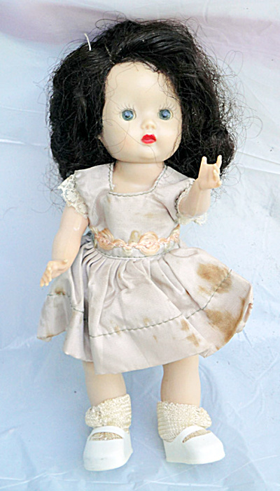 Nancy Ann Early 1950s Strung Brunette Muffie Doll (Image1)