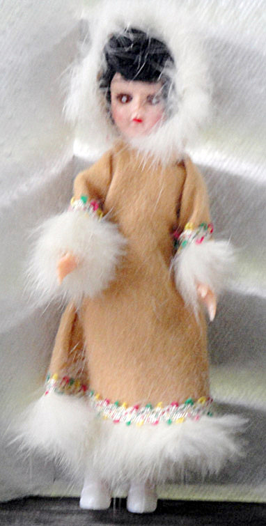 Vintage Eskimo 7.5 Inch Nationality Doll