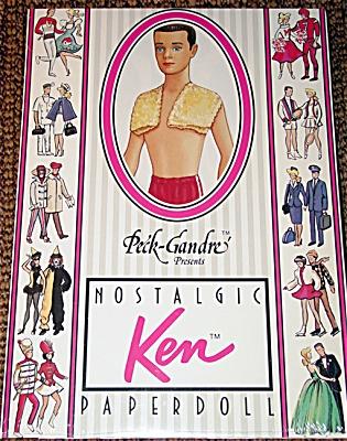 1961 Nostalgic Ken Paper Doll Peck-Gandre 1989 (Image1)