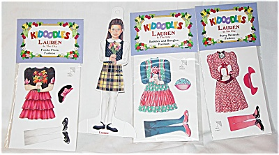 Peck Aubry Lauren In The City Kidoodles Paper Doll Set
