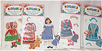 Peck Aubry Anna's Adventure Kidoodles Paper Doll Set (Image1)