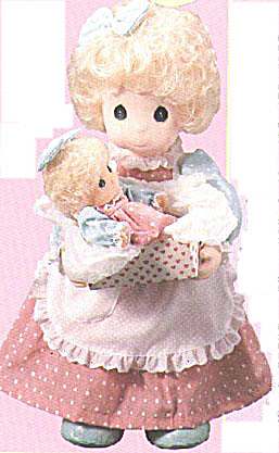 1993 Precious Moments Co. Milly and Baby Dolls (Image1)