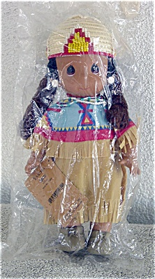 Precious Moments Aquene Yakima Native American Doll 1994-96 (Image1)