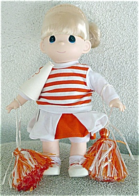 Precious Moments Blonde Cheerleader Doll in Orange (Image1)