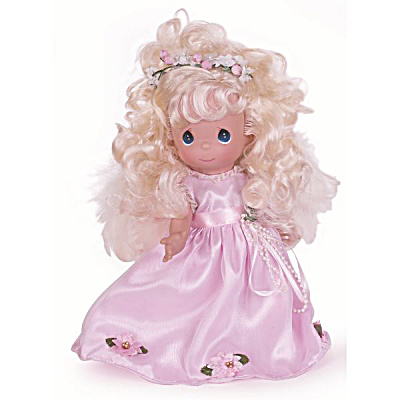 Precious Moments Such An Angel Blonde Doll In Pink, 2014