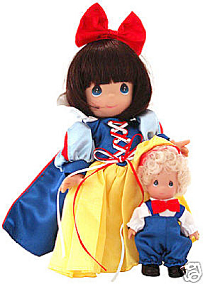 Precious Moments Snow White And Happy Doll, Disney 2003