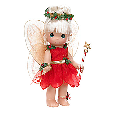 Precious Moments Co. Tinkerbelle 's Christmas Dreams Doll 2009 (Image1)