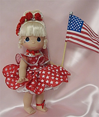 Precious Moments Co. Star Spangled Tinker Bell Doll 2010 (Image1)